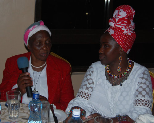 Our founder Nyakio with her mother, Agatha.
